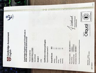 fake CAE certificate, fake C1 Advanced certificate, fake ESOL certificate,