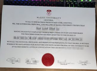 McGILL University diploma, McGILL University degree, McGILL University certificate,