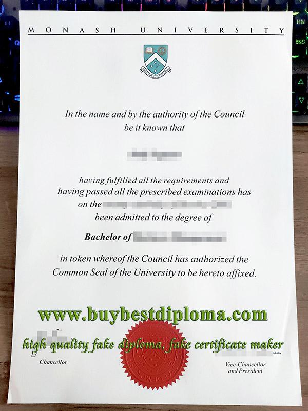 fake Monash University diploma, fake Monash University degree, fake Monash University certificate,