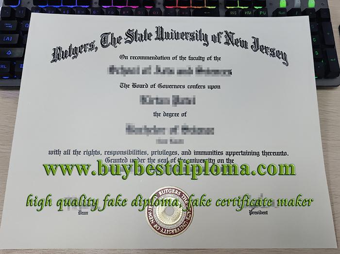 Rutgers University diploma, Rutgers University degree, fake US diploma,