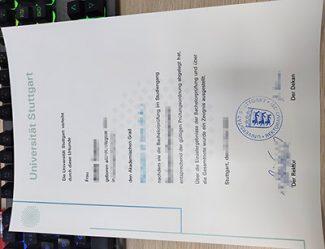 Universität Stuttgart diplom, University of Stuttgart diploma, Universität Stuttgart urkunde