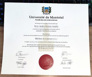 Université de Montréal diploma, Université de Montréal degree, fake UdeM diploma,