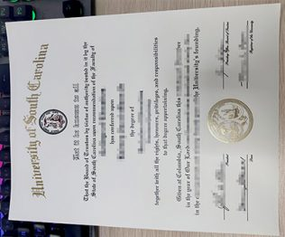 University of South Carolina diploma, University of South Carolina degree,