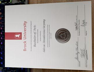Brock University diploma, Brock University degree,