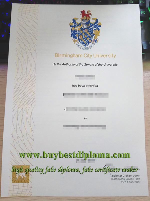 Birmingham City University diploma, fake BCU degree, fake BCU diploma,