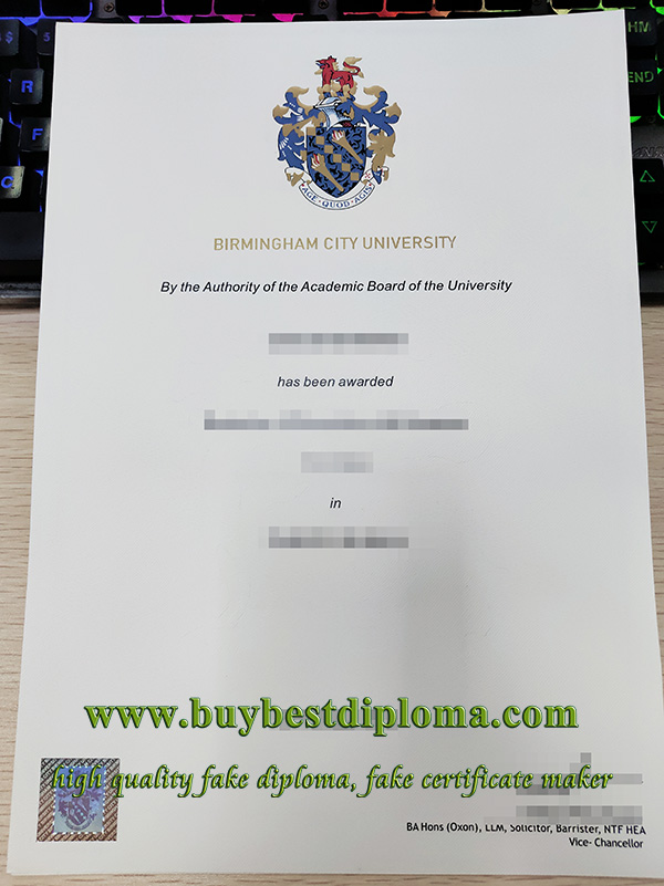 Birmingham City University degree, Birmingham City University diploma, fake BCU degree,