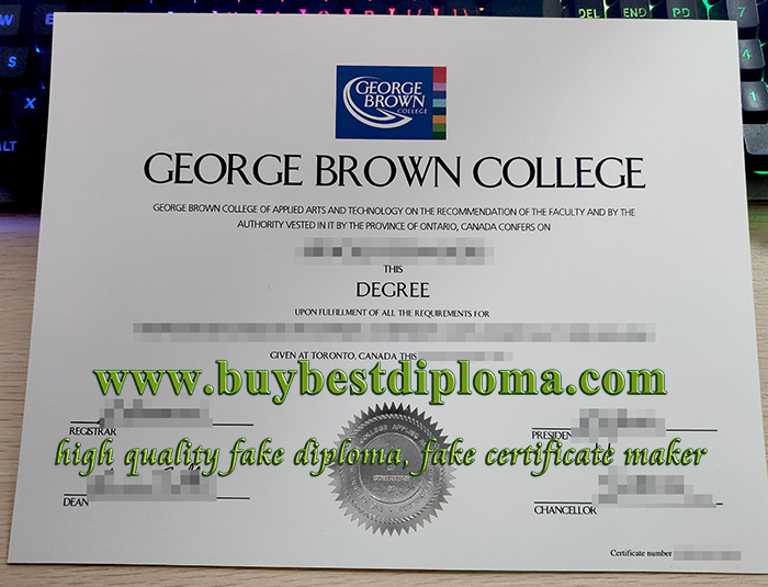 George Brown College diploma, George Brown College degree, fake GBC diploma,