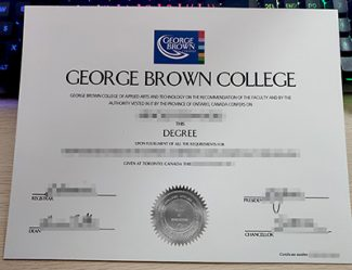 George Brown College diploma, George Brown College degree, fake GBC diploma,