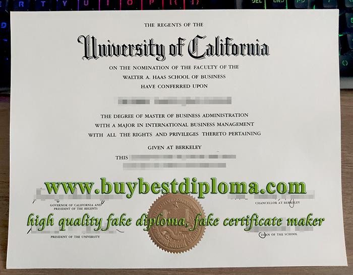 UC Berkeley diploma, UC Berkeley degree, University of California diploma,