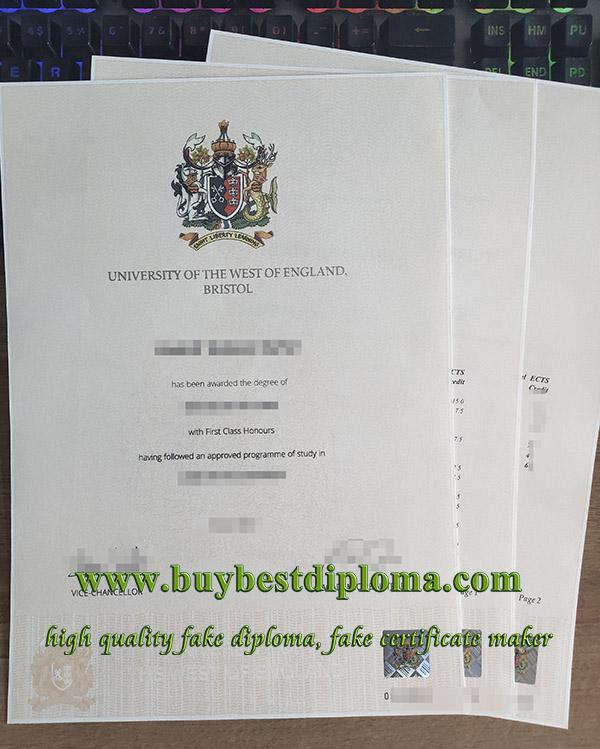 UWE Bristol degree transcript, UWE degree, University of the West of England degree,