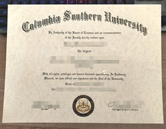 Columbia Southern University diploma, Columbia Southern University certificate, fake CSU diploma,