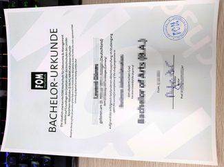 FOM Hochschule diploma, FOM Hochschule urkunde, FOM University diploma,