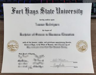 Fort Hays State University diploma, fake FHSU diploma, Fort Hays State University degree certificate,