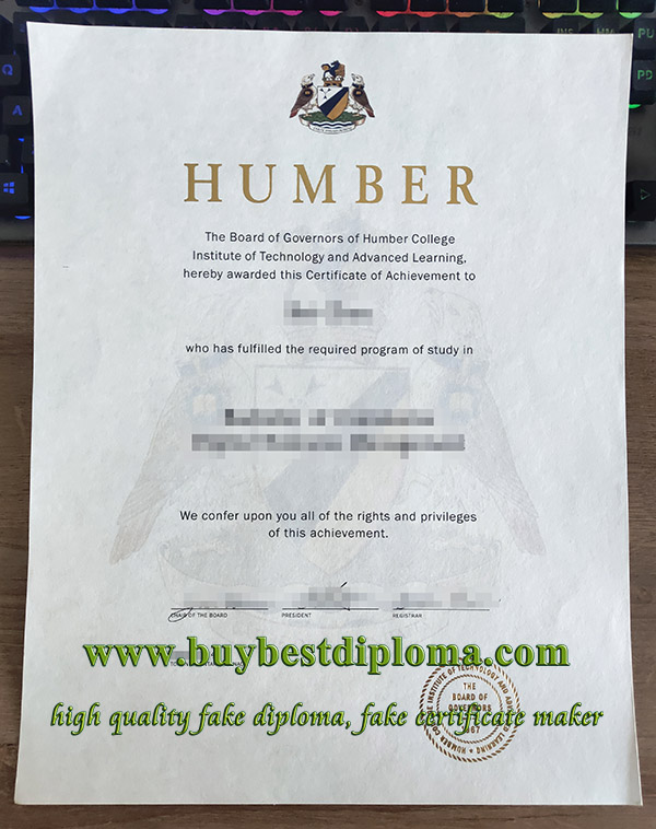 Humber College diploma, fake Humber College certificate, fake Humber College degree,