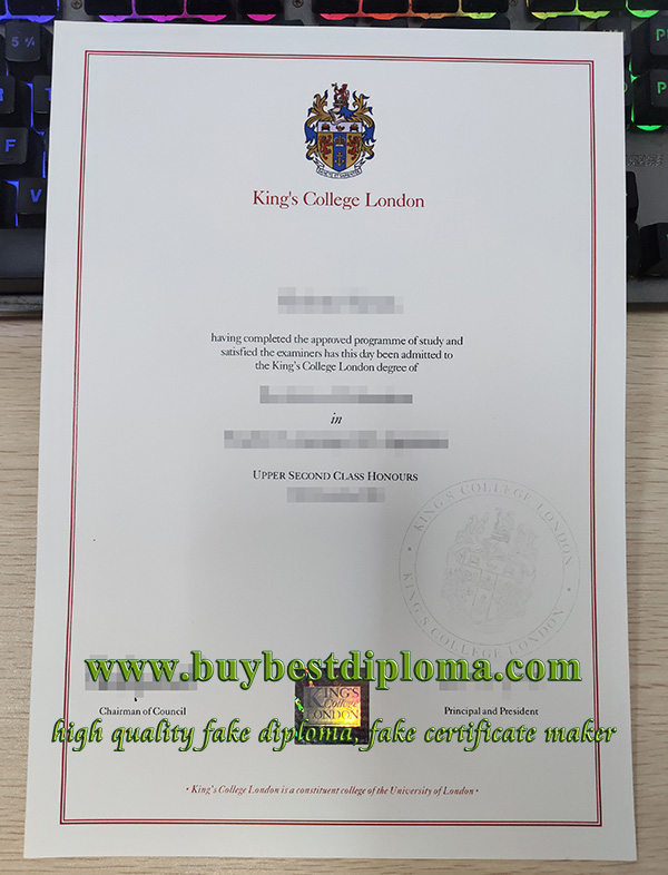 King's College London degree, fake King's College London diploma, fake KCL degree,