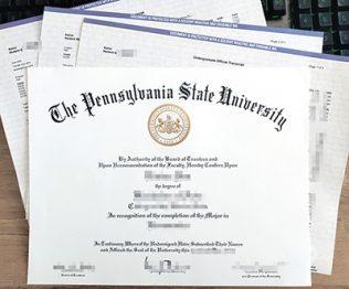 Penn State University diploma, Penn State University transcript, fake PSU diploma,