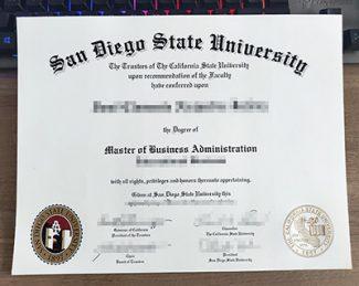 San Diego State University diploma, fake SDSU diploma, fake San Diego State University certificate,