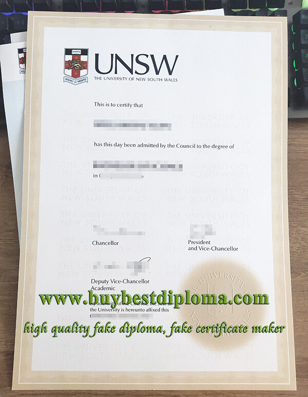 University of New South Wales degree, University of New South Wales transcript, fake UNSW degree,