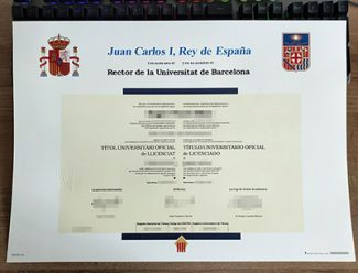 University of Barcelona diploma, Universitat de Barcelona diploma, University of Barcelona degree,