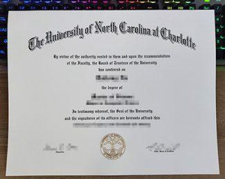 UNC Charlotte diploma, University of North Carolina diploma, fake UNC diploma,