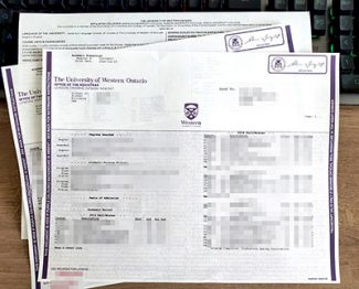 University of Western Ontario transcript, fake UWO transcript, University of Western Ontario diploma,