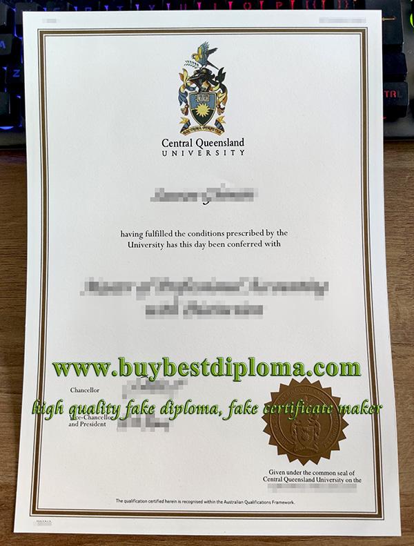 fake CQU degree, replica Central Queensland University diploma, Central Queensland University certificate,