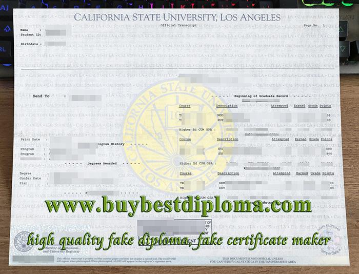 Cal State LA transcript, fake California State University Los Angeles transcript, buy CSU Los Angeles transcript,