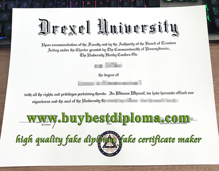 Drexel University diploma, fake Drexel University certificate, fake Drexel University degree,