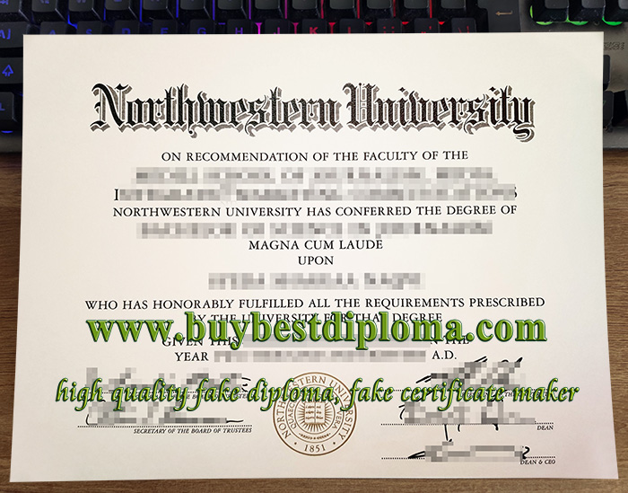 Northwestern University diploma, fake NU diploma, Northwestern University degree,