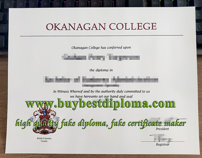 Okanagan College diploma, fake Okanagan College certificate, fake Okanagan College degree,
