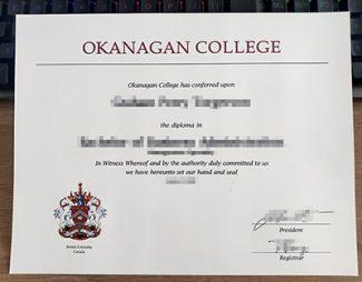 Okanagan College diploma, fake Okanagan College certificate, fake Okanagan College degree,