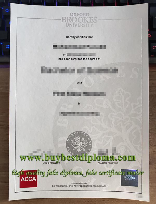 fake Oxford Brookes University degree, fake ACCA degree, fake degree in accounting,