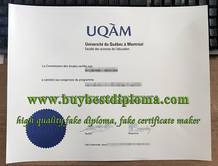 UQAM diploma, Université du Québec à Montréal diploma, Université du Québec à Montréal certificate,
