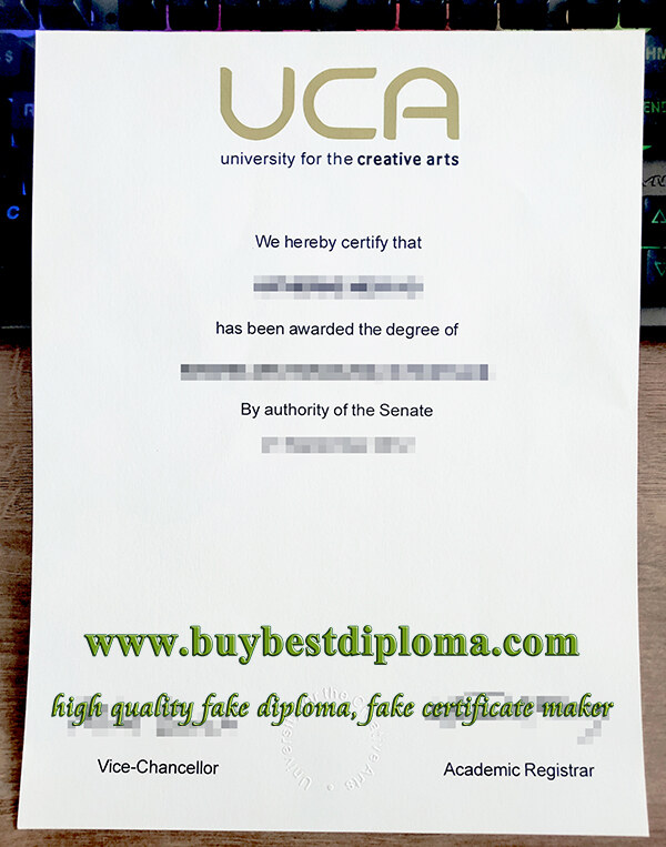 University for the Creative Arts degree, University for the Creative Arts certificate, fake UCA diploma,