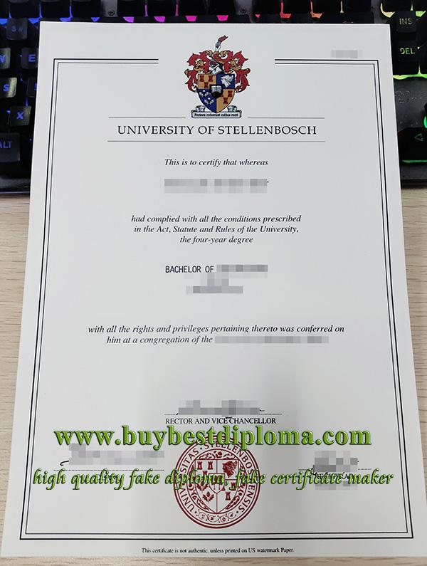 Stellenbosch University diploma, fake Stellenbosch University degree, fake Stellenbosch University certificate,
