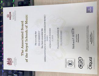fake ABRSM diploma, LRSM certificate, ABRSM certificate,