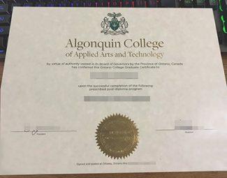fake Algonquin College diploma, fake Ontario College diploma, buy Algonquin College certificate,