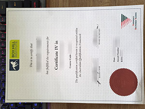 Box Hill Institute certificate, fake TAFE certificate, fake BHI diploma,