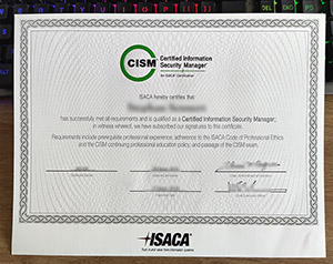 Certified Information Security Manager certificate, fake CISM certificate, fake cybersecurity certification,