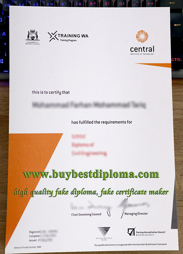 Central Institute of Technology certificate, Central TAFE certificate, buy TAFE certificate,