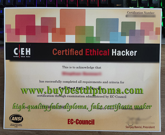 Certified Ethical Hacker certificate, fake CEH certificate, fake Cyber certificate,