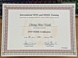 International TEFL and TESOL Training certificate, fake ITTT TESOL certificate, fake TESOL certificate,