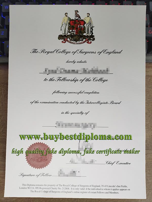 Fake RCS England Certificate, Fake Medical Certificate, Fake RCS Certificate