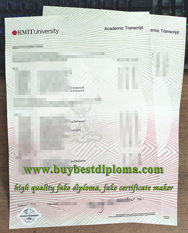 RMIT University transcript, fake RMIT transcript, fake RMIT degree,