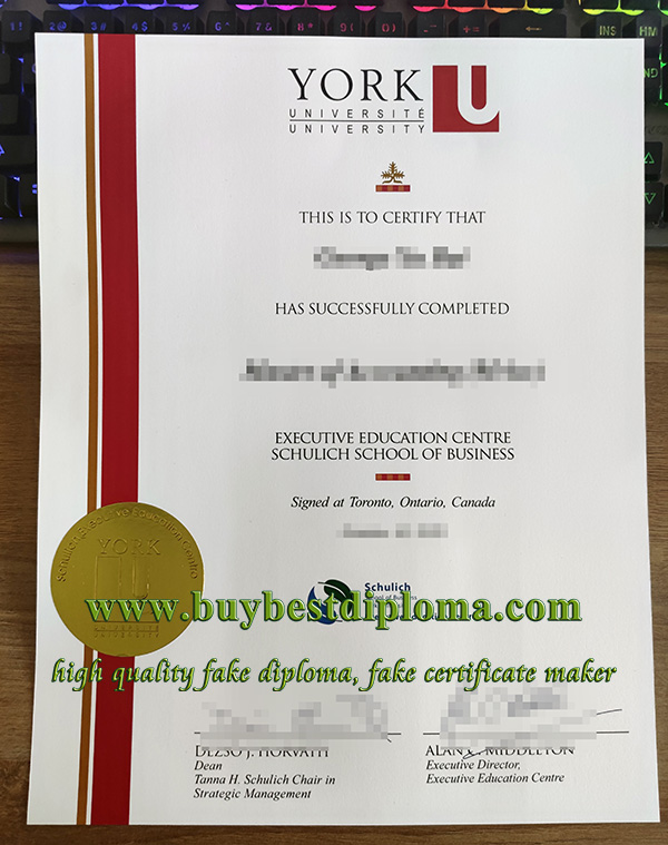 Schulich School of Business diploma, fake York University diploma, fake Master diploma,