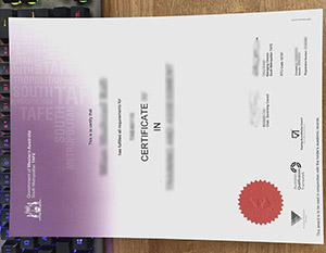 South Metropolitan TAFE certificate, fake TAFE certificate, fake Australian certificate,