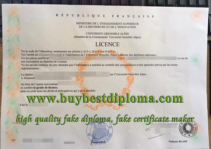 fake Université Grenoble Alpes diploma, buy Université Grenoble Alpes licence, fake French diploma,