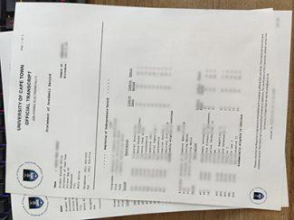 fake University of Cape Town transcript, fake UCT transcript, University of Cape Town certificate,