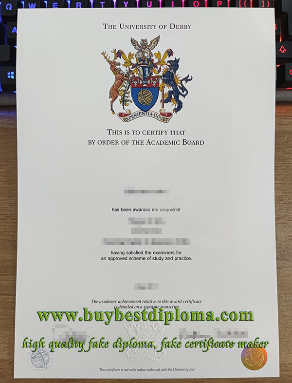 University of Derby diploma, buy University of Derby degree, fake University of Derby certificate,
