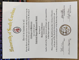 University of South Carolina diploma, fake USC diploma, University of South Carolina degree,